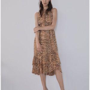 NWOT Zara Snakeskin Print Dress